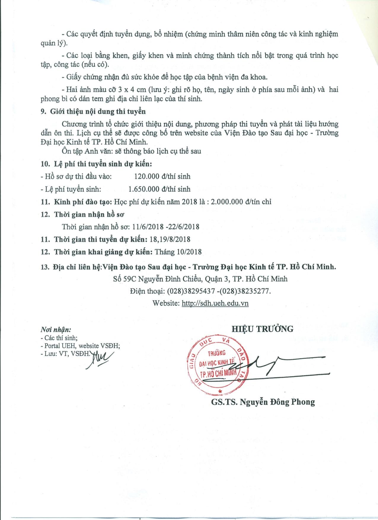 Thong bao tuyen sinh Thac si Dieu hanh Cao cap QLC 2018-4